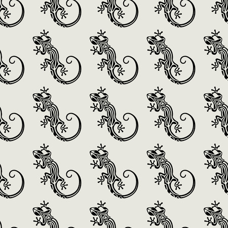 salamander: Seamless salamander pattern. Seamless texture with lizards. Abstract nature background. Vector illustration Illustration