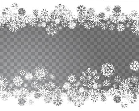 雪の結晶。クリスマス デザインのための抽象的な雪。あなたのテキストのための場所。ベクトル図  イラスト・ベクター素材
