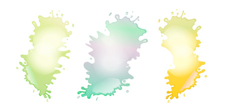 Abstract colour paint splashes set isolated on white background. Vector illustration for your label design