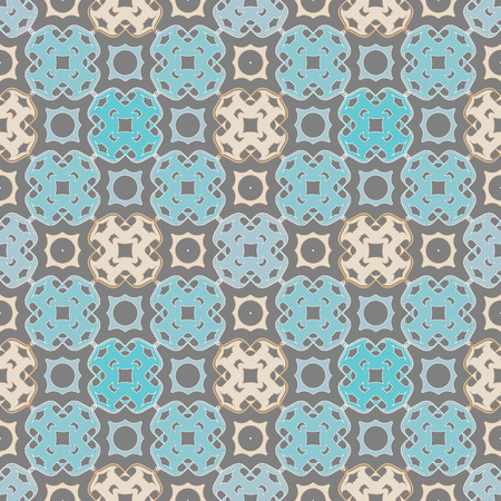 Arabesque islamic blue seamless pattern. Vector illustration for your Arabic geometry background design Turkish mosque