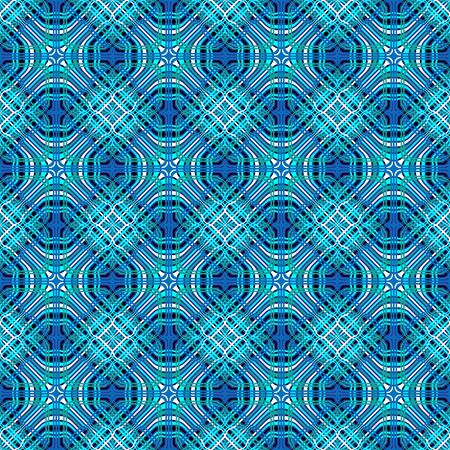 Abstract geometry tribal blue seamless pattern with line rhombus. Eastern graphic ruled modern ornate texture background. illustration for your modern arabic print 向量圖像