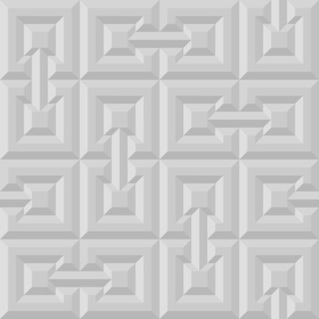 Grey or white 3d seamless pattern for geometry design. Abstract background vector illustration for origami style 向量圖像