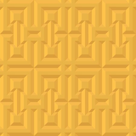 Yellow 3d seamless pattern for geometry design. Abstract bright background vector illustration for color origami style 向量圖像