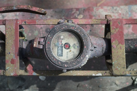 Dirty water meter   Stock Photo