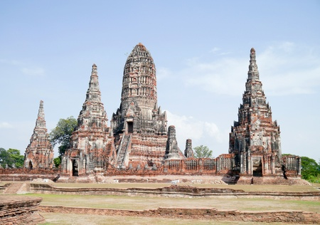 Chaiwattanaram temple in ayutthaya province thailand. Stock Photo