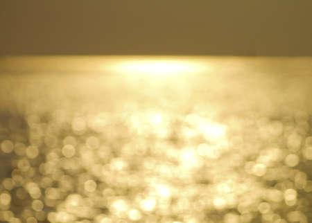 Twilight ocean bokeh in thailand.