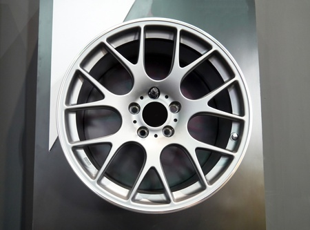 Wheel car  in motor show . Stock Photo - 22384626