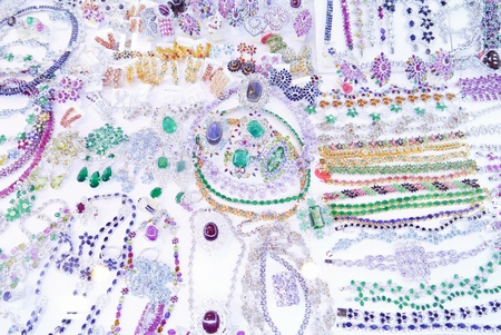 Jewelry art abstract background. photo