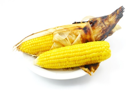 Corn roasted thai style isolate. Stock Photo - 21877282