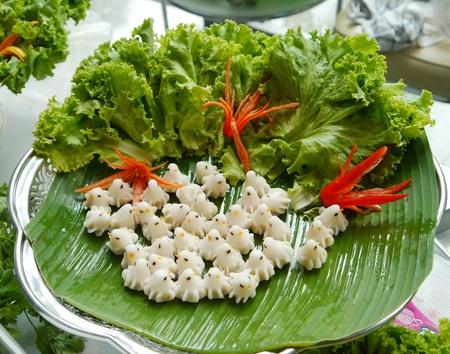 Thai food like white birds.