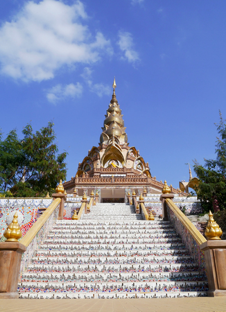 View of colorful thai temple. photo