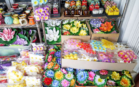 Colorful artificial flower sunday market. Stock Photo - 24840479