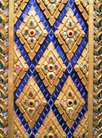 Beautiful golden thai style texture. photo