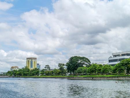 View of lakeside park Thailand. photo
