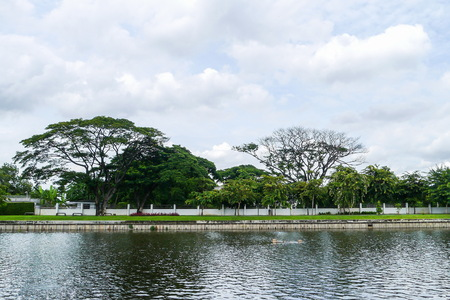 View of lakeside park Thailand.