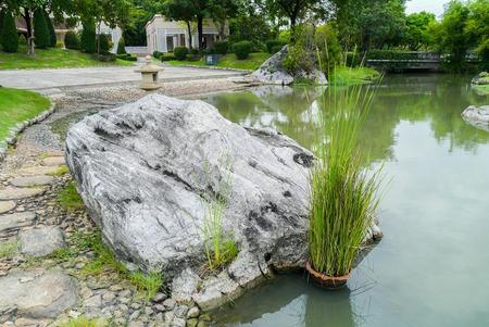 Japanese Garden in the park Thailand.