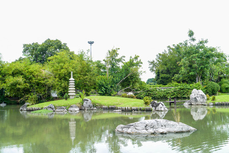 Japanese Garden in the park Thailand. photo