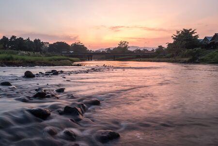 Twilight nature Thailand.