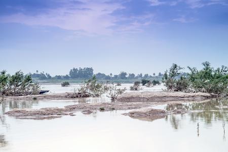 mekong river: landscape view in mekong river thailand .