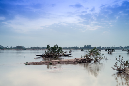 landscape view in mekong river thailand .