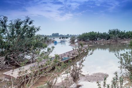 mekong: landscape view in mekong river thailand .