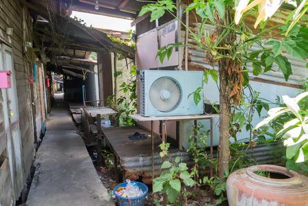 squatter: Slum in Thailand.