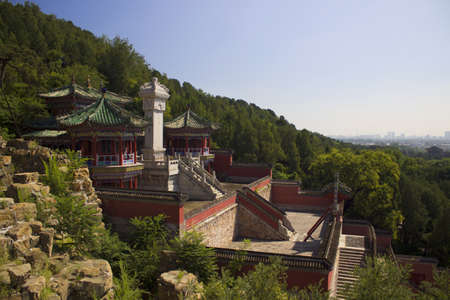 historical architecture: Summer Palace in Beijing with historical architecture Editorial