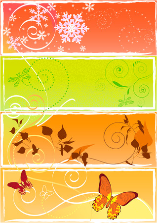 year in colour Vector