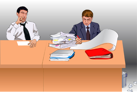 contracts: businessmen Illustration