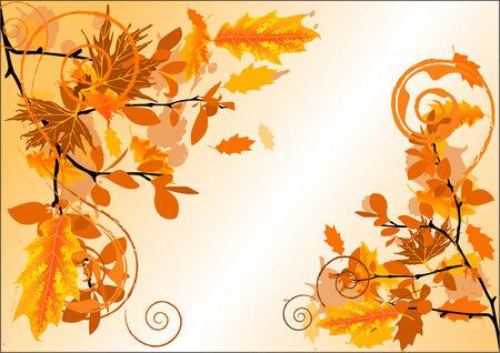 haloween: autumn blank