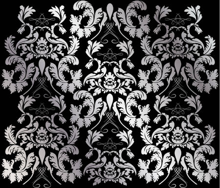 silver victorian background Vector