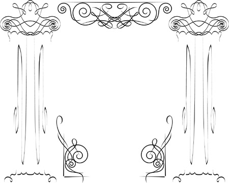 ionic columns Vector