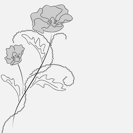 remembrance day: papavero carta Vettoriali