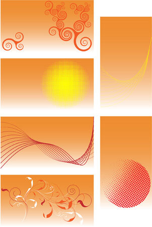 orange business cards Vector