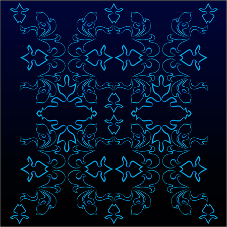 dark blue victorian pattern Stock Vector - 4486438