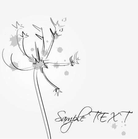 posterity: grunge dandelion Illustration