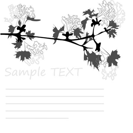 maple branch in blossom Stock Vector - 4486437