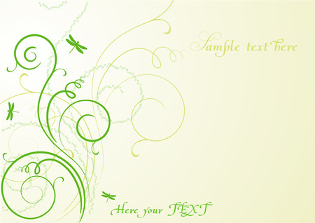 spring background with dragonflies Vector