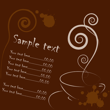 coffee card Stock Vector - 4606567
