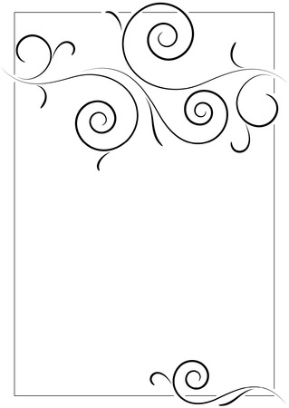 beautiful filigree frame on empty page Illustration