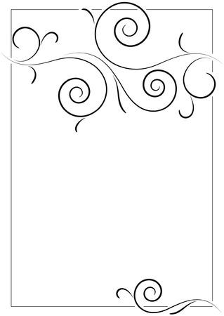 beautiful filigree frame on empty page Illustration