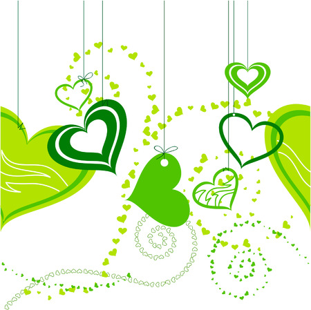seamless shop window decoration with hearts Vector
