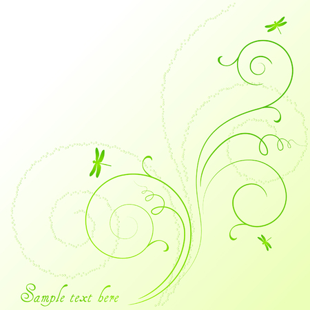 abstract background with dragonflies Иллюстрация
