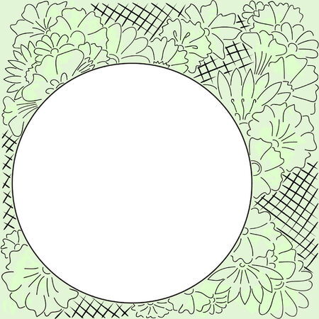 lovely frame with drawn flowers Stock Vector - 4858887