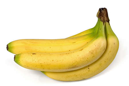 Bunch of bananas isolated ofer a white background photo