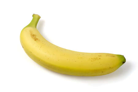 Banana isolated ofer a white background photo