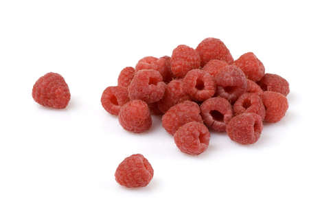 Raspberries isolated over a white background photo
