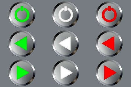 Set of buttons for web design. All buttons are isolated using a clipping path which make it easy to use them on any background color. See other images in my portfolio for other symbols in the same set. Dont hesitate to contact me if you would like other Stock Photo