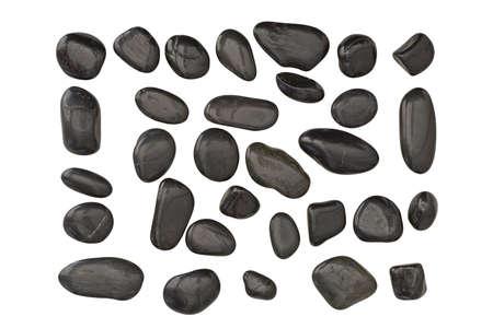 oneness: Ciottoli neri isolati con varie forme