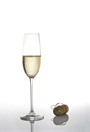 Champagne flute isolated over a white background Stock Photo - 507429